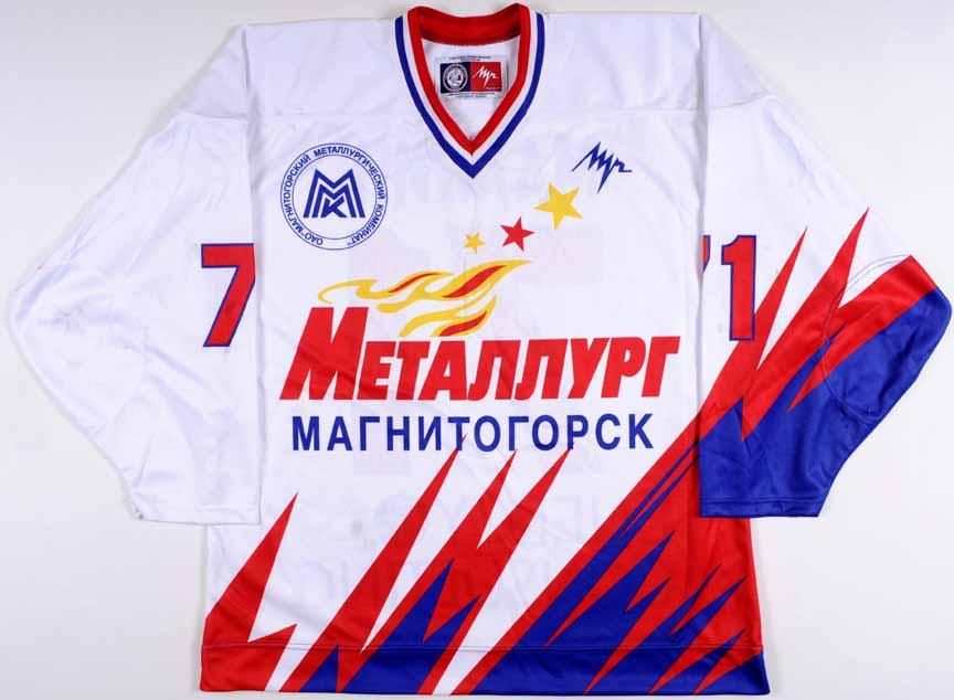 9dd7afdd6 Early Mid 2000 s Evgeni Malkin Metallurg Magnitogorsk Replica Jersey ...