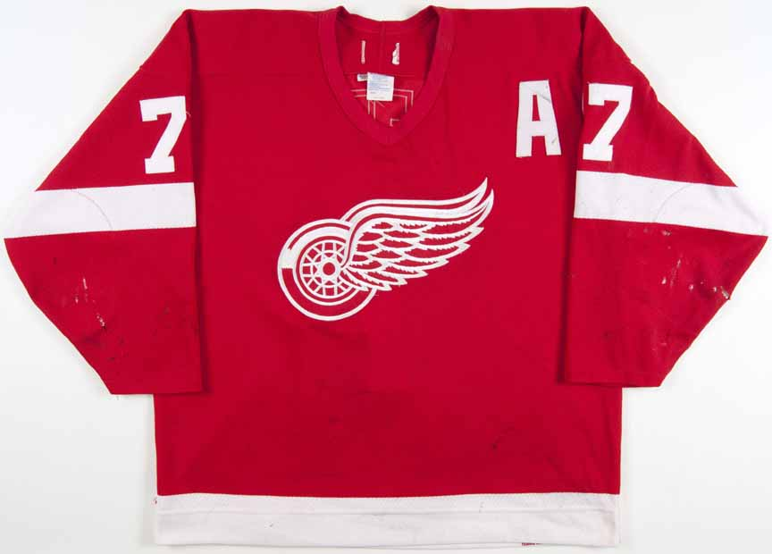 1993-94 Paul Coffey Detroit Red Wings Game Worn Jersey - Team Letter ... 2a99c9e2c