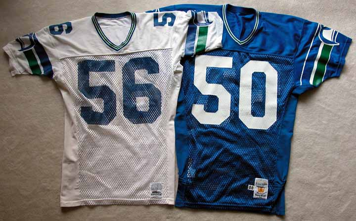 save off d1081 263be Lot of (2) 1980's Seattle Seahawks Game Worn Jerseys ...