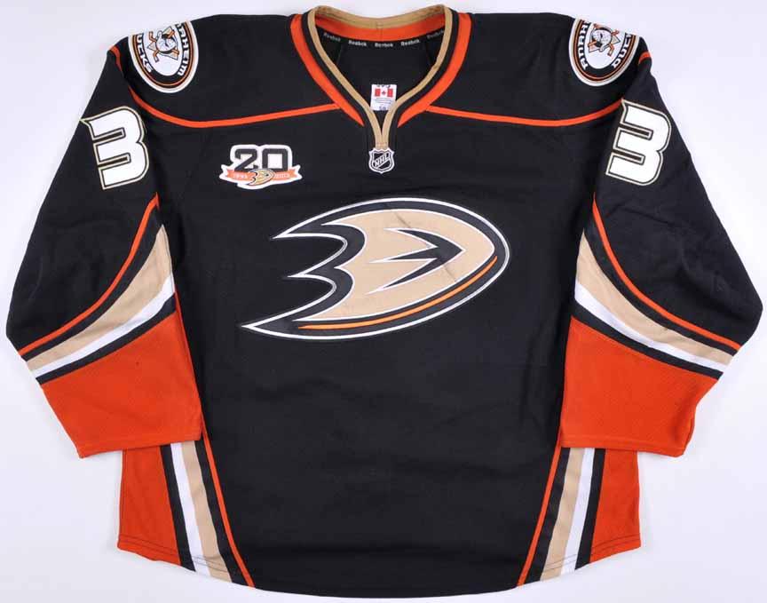 2013-14 Jakob Silfverberg Anaheim Ducks Game Worn Jersey ...