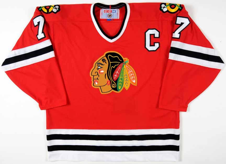 2c6b94cae3b Chris Chelios Chicago Blackhawks Replica Jersey: GAMEWORNAUCTIONS.NET