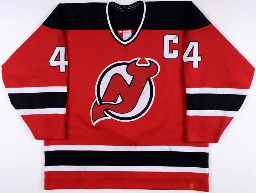 online store dc318 cdf7c 1994-95 Scott Stevens New Jersey Devils Game Worn Jersey ...