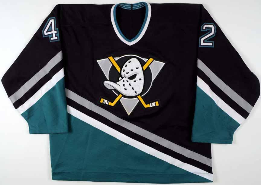 1995-96 Denny Lambert Anaheim Mighty Ducks Game Worn Jersey ... 515689c7db3