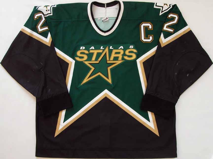 2002-03 Derian Hatcher Dallas Stars Game Worn Jersey - NHL Letter ... 9c4824f52