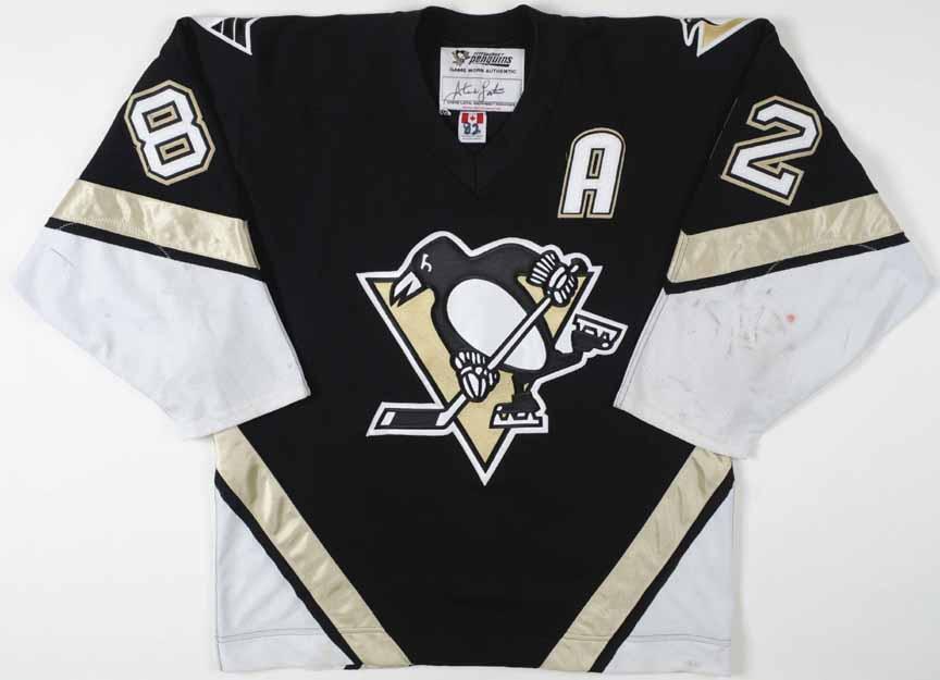 2001-02 Martin Straka Pittsburgh Penguins Game Worn Jersey - Team Letter 29e32e54f0d