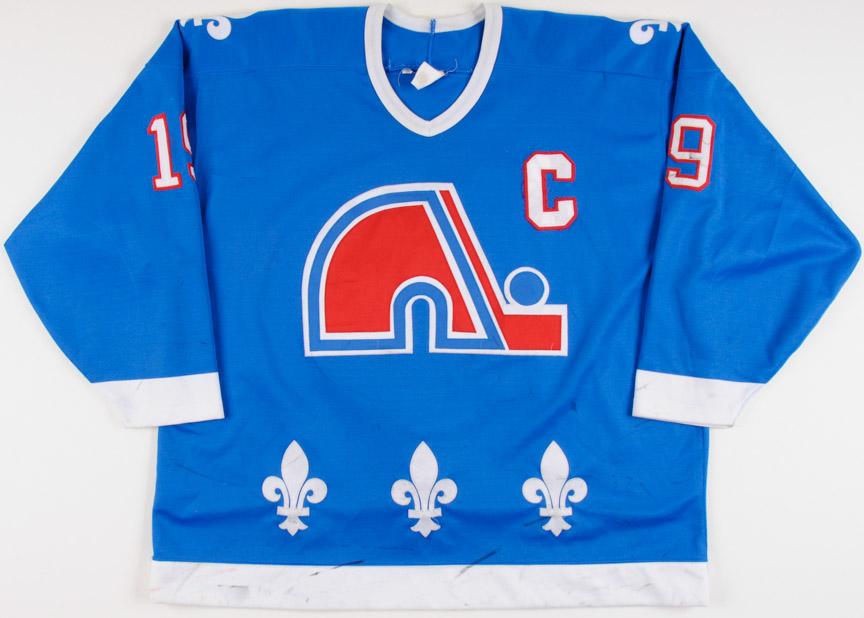 1993-94 Joe Sakic Quebec Nordiques Game Worn Jersey - Photo Match ... 312d3b42b4a
