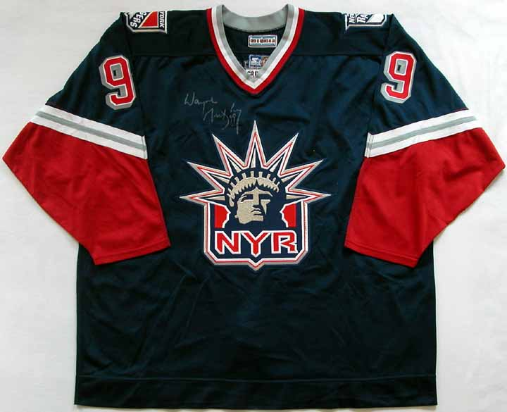 1996-97 Wayne Gretzky New York Rangers Game Worn Jersey - Video Provenance 4bee83fa3bb