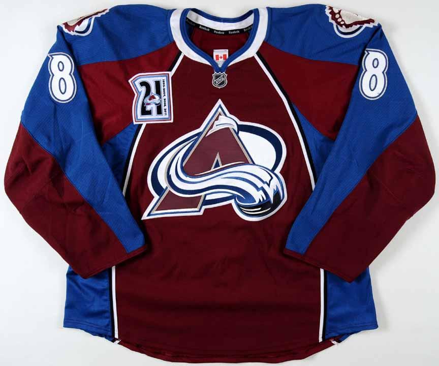 2011-12 Jan Hejda Colorado Avalanche Game Worn Jersey -