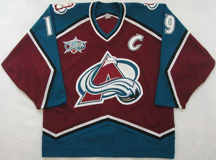 new style b0227 e52c8 2000-01 Joe Sakic Avalanche Game Worn Jersey - Awards & Cup ...