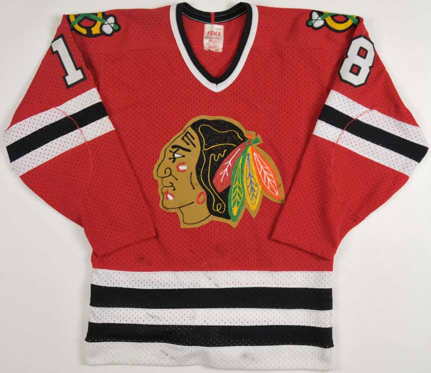 1982-83 Denis Savard Chicago Blackhawks Playoff Game Worn JerseyDenis Savard Blackhawks