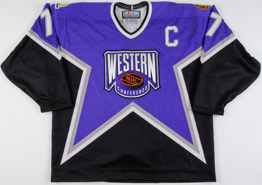 """cheap for discount 42ed9 51aa9 1996-97 Chris Chelios NHL All Star Game Worn Jersey – """"1997 ..."""