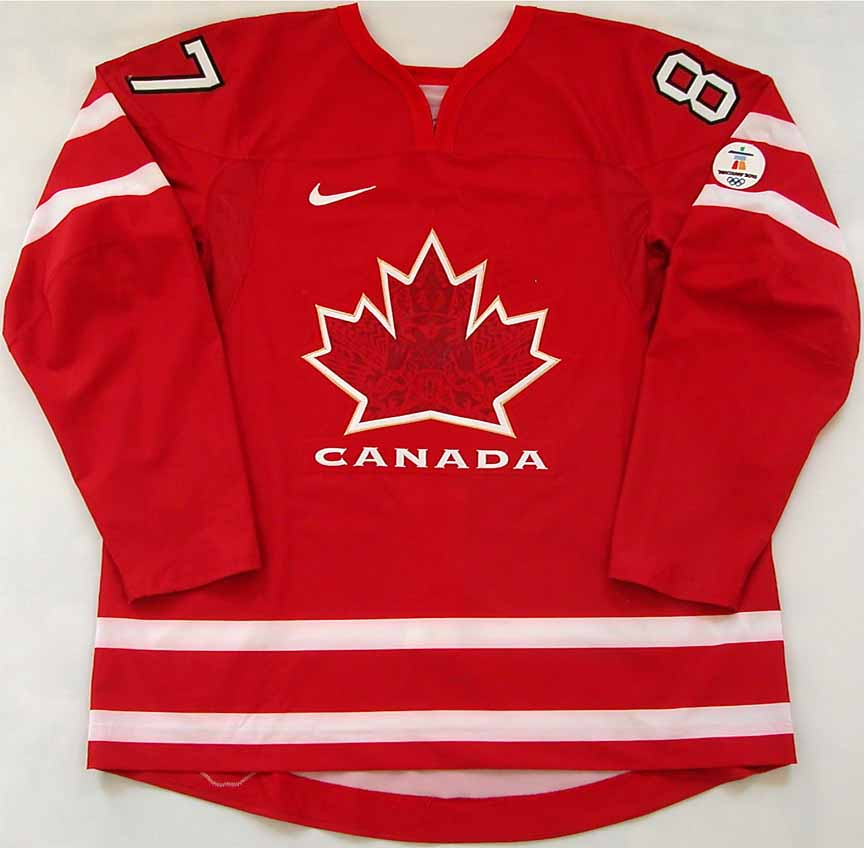 2010 Sidney Crosby Team Canada Olympics Game Worn Jersey - 1st Olympic  Jersey -