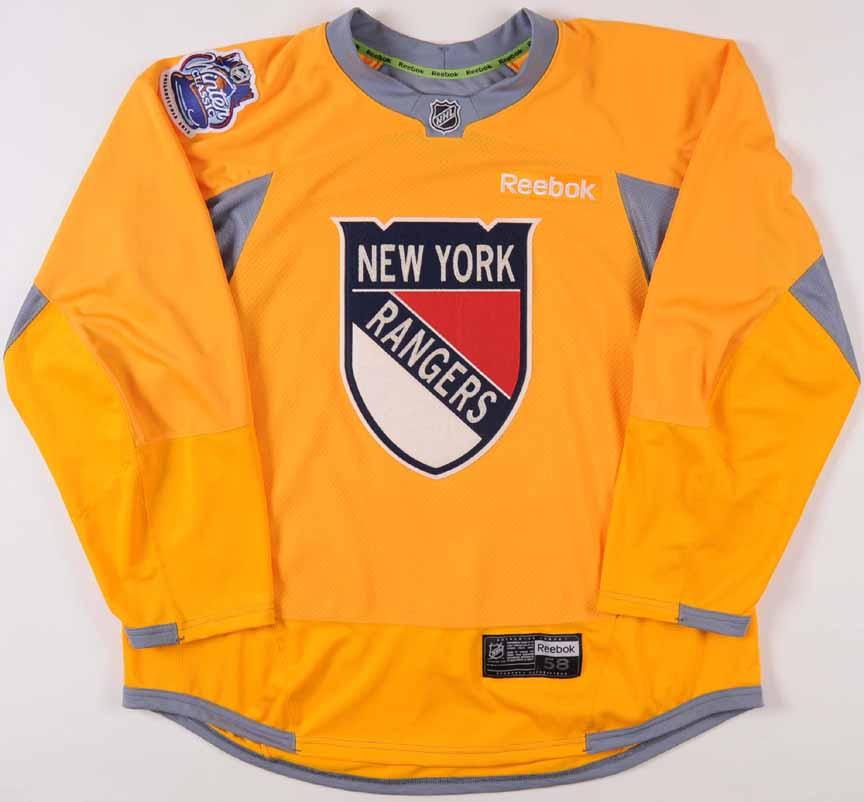 2011-12 Erik Christensen New York Rangers Winter Classic Practice Worn  Jersey -