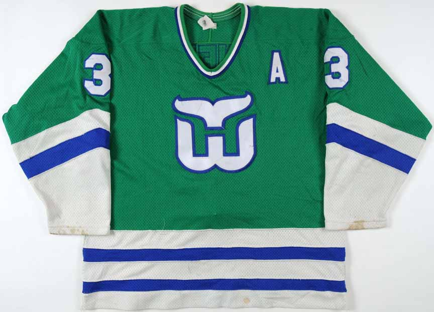 1985-86 Joel Quenneville Hartford Whalers Game Worn Jersey ... b18be5afe