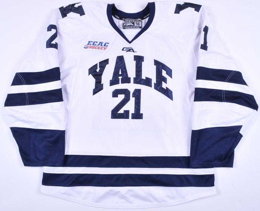 new concept 7cb78 799f8 2014-15 John Hayden Yale University Game Worn Jersey ...