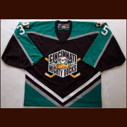 2000's Iilya Bryzgalov Cincinnati Mighty Ducks Game Worn Jersey