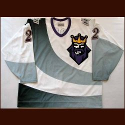 1995-96 Doug Zmolek Los Angeles Kings Game Worn Jersey - Burger King