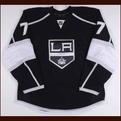 2010-11 Rob Scuderi Los Angeles Kings Game Worn Jersey – Alternate – Team Letter