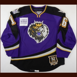 "2010-11 Tyler Toffoli Manchester Monarchs Game Worn Jersey – ""10-year Anniversary"" – ""75-year AHL Anniversary"" – Rookie - Professional Debut – Team Letter"