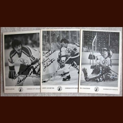 1975-76 Scouts Autographed Photo Card Group of 3