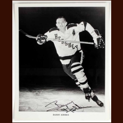 Barry Ashbee Hershey Bears Autographed 8x10 B&W Photo - Deceased