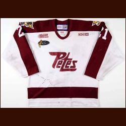 "2003-04 Corey Gault Peterborough Petes Game Worn Jersey - ""Roger"""