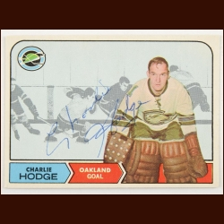 1968-69 OPC Charlie Hodge Oakland Seals Autographed Card – Deceased