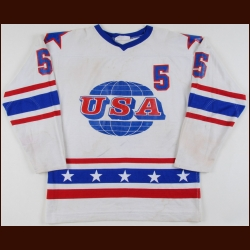 1979 Mike Stone Team USA World Junior Championships Game Worn Jersey