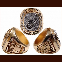1997 Detroit Red Wings Stanley Cup Championship Ring – Geniune Diamonds & 14k gold – From the Collection of Red Wings Trainer John Wharton