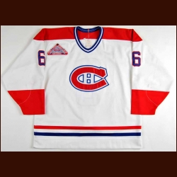 "1992-93 Oleg Petrov Montreal Canadiens Pre-season Worn Jersey - Rookie - ""44th NHL All Star Game"" - Stanley Cup Season - Team Letter"