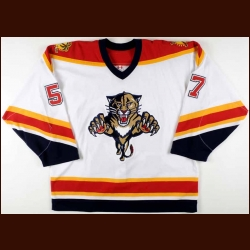 2005-06 Anthony Stewart Florida Panthers Game Worn Jersey - Rookie - Team Letter