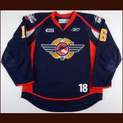 "2010-11 Kerby Rychel Windsor Spitfires Game Worn Jersey – ""18 - Mickey Renaud Tribute"" – Team Letter"