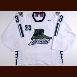 2008-09 David Leggio Florida Everblades Game Worn Jersey – ECHL Letter - Clarkson University Alum