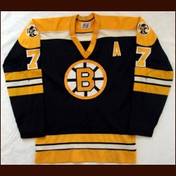 1973-74 & 1974 Finals Phil Esposito Bruins Game Worn Jersey - Photo Matched - Video Matched
