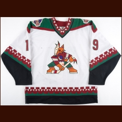1997-98 Shane Doan Phoenix Coyotes Game Worn Jersey - Photo Match – Team Letter