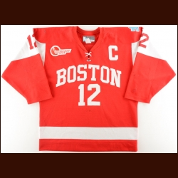2011-12 Chris Connolly Boston University Game Worn Jeresy – Photo Match