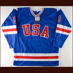 Neal Broten Team USA Autographed Replica Jersey – Miracle on Ice Alum – D&A COA