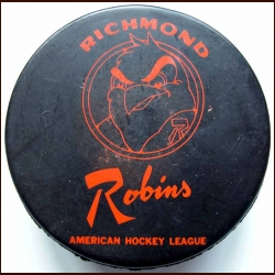 AHL Richmond Robins Old Style Logo Puck