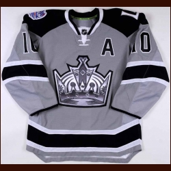 "2013-14 Mike Richards Los Angeles Kings Game Worn Jersey – ""2014 Stadium Series"" - Stanley Cup Season – Photo Match – Stadium Series Letter"
