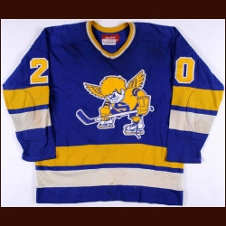 1975-76 Jack Carlson Minnesota Fighting Saints Game Worn Jersey - Photo Match - Video Match