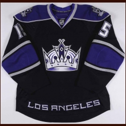 2009-10 Brad Richardson Los Angeles Kings Game Worn Jersey - Photo Match – Team Letter