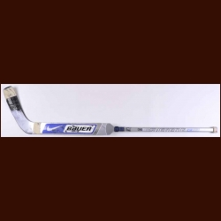 Tomas Vokoun Florida Panthers Silver Nike/Bauer Game Used Stick – Autographed
