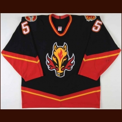 2000-01 Tommy Albelin Calgary Flames Game Worn Jersey