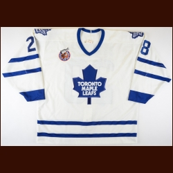 1992-93 Darryl Shannon Toronto Maple Leafs Game Worn Jersey - The Darryl Shannon Collection – Darryl Shannon Letter