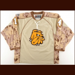 2011-12 University of Minnesota-Duluth Practice Worn Jersey – Player #14 – Camo Night