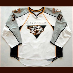 2007-08 Chris Mason Predators Game Worn Jersey - Team Letter