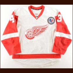 "2015-16 Darren Helm Detroit Red Wings Game Worn Jersey – ""HHOF"" – Photo Match"