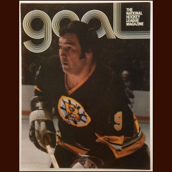 John Bucyk Boston Bruins 8½ x 11 Color Autographed National Hockey League Magazine Cover - Hall of Famer