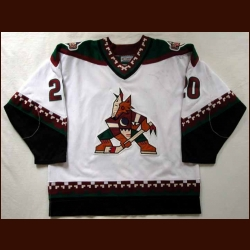 1996-97 Oleg Tverdovsky Coyotes Game Worn Jersey - First Year Coyotes