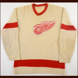 1950's Tony Leswick or Dutch Reibel Detroit Red Wings Wool Game Worn Jersey